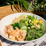 Superfood.Garden Bowl with Gambas